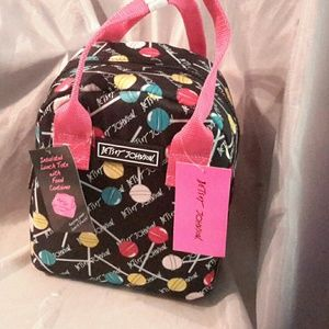Betsey johnson lolly pop print lunch tote NWT